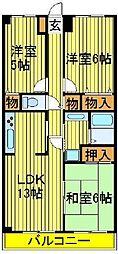 木崎台マンション[305号室]の間取り