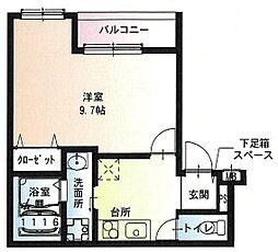フジパレス尼崎ガーデン2 3階1Kの間取り