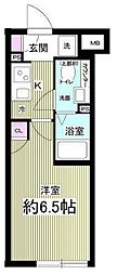 notice目黒本町 4階1Kの間取り