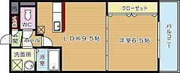 福岡県北九州市八幡西区浅川学園台2丁目の賃貸マンションの間取り