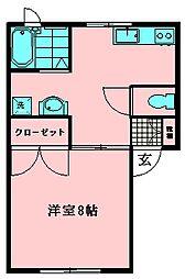 パーク尾崎[105号室]の間取り
