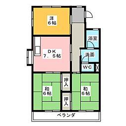 ヤマチハイツ[2階]の間取り