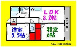 東京メトロ東西線 葛西駅 徒歩14分の賃貸マンション 6階2DKの間取り