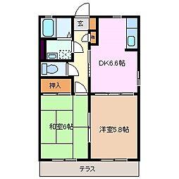 タウンKOMO A棟[1階]の間取り