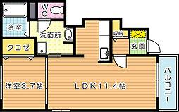 ユニゾン大平 D棟[1階]の間取り