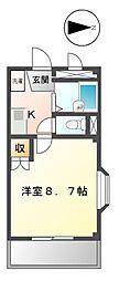 アネックス香久山[1階]の間取り