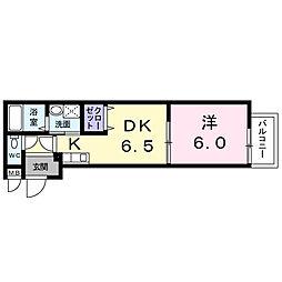 東京都昭島市郷地町3丁目の賃貸アパートの間取り