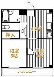 東京都足立区足立3丁目の賃貸マンションの間取り
