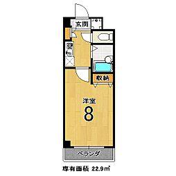 エクシードI[207号室]の間取り