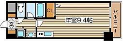 クリスタルグランツ北堀江[10階]の間取り