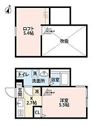 神奈川県相模原市中央区富士見4丁目の賃貸アパートの間取り