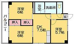 第11川崎ビル[6階]の間取り
