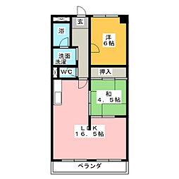 第2グリーンマンションハットリ[1階]の間取り