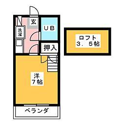 タウンプレースK[1階]の間取り