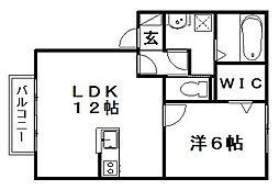 ウィルモアK&Y[104号室]の間取り