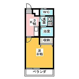 ラックス富田[2階]の間取り