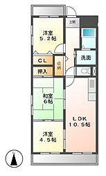 ボナール畑田[8階]の間取り