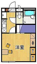 レオパレスグリーンスタジオ伊丹[2階]の間取り