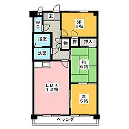 フォレスト勝川[2階]の間取り