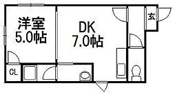 グランデミル栄通N[4階]の間取り