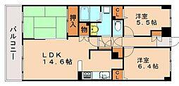 藤和ライブタウン長住丘[4階]の間取り