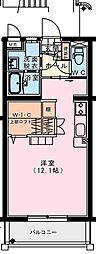 (仮称)出北・3丁目佐藤マンション 3階ワンルームの間取り