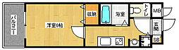 「アスヴェル京都御所前II」[6階]の間取り