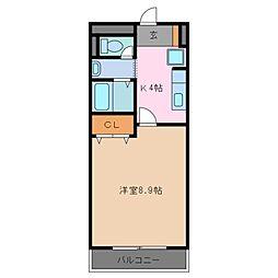 三重県鈴鹿市住吉3丁目の賃貸アパートの間取り