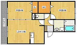 レジデンスTamaya B[1階]の間取り