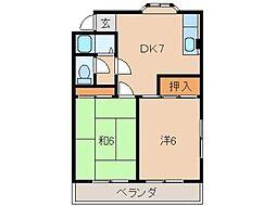 マンション神前II[2階]の間取り