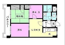 野中第一ビル[702 号室号室]の間取り