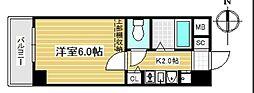 エステムコート心斎橋アルテール[8階]の間取り