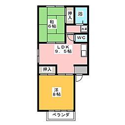 エステート33[2階]の間取り