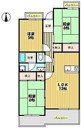 T・フリーデンハイムII[2階]の間取り