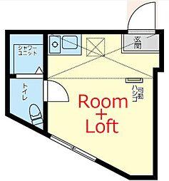 相鉄本線 上星川駅 徒歩8分の賃貸アパート 1階ワンルームの間取り