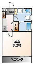 フォルテボナール[3階]の間取り