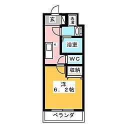 KNOTS SAKURADAI Sta 2階1Kの間取り