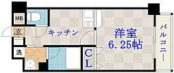 ジュネス関目高殿[4階]の間取り