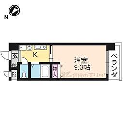 JR東海道・山陽本線 大津駅 徒歩10分の賃貸マンション 11階1Kの間取り