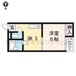 サンシャイン京都[305号室]の間取り