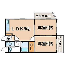大阪府大阪市西成区梅南3丁目の賃貸マンションの間取り