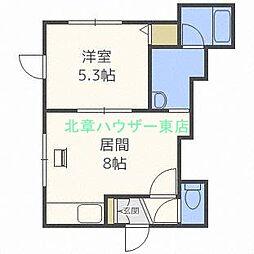 北海道札幌市東区伏古十四条4の賃貸アパートの間取り