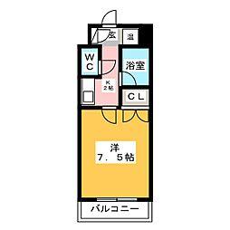 サンシティ箱崎九大前[2階]の間取り