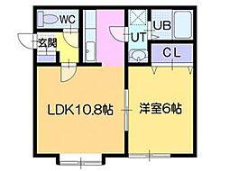 江別大麻レモンハイツI[3階]の間取り