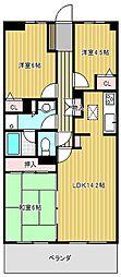 愛知県名古屋市千種区徳川山町6丁目の賃貸マンションの間取り