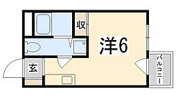 城北興和マンション[302号室]の間取り