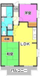 ニューライトマンション[2階]の間取り