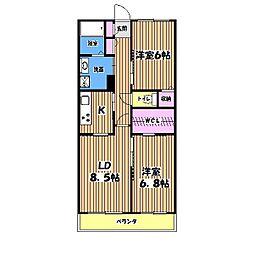 東京都立川市上砂町1丁目の賃貸マンションの間取り