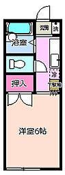 カレッジハウス小谷田[2階]の間取り