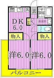 浜田第一第二マンション[1206号室]の間取り